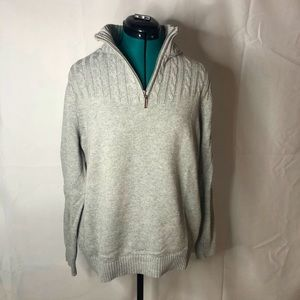 KAREN SCOTT • 3/4 zip up sweater pullover • EUC